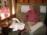 Dave relaxing after getting us on board the train
