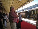 Dave admiring the train