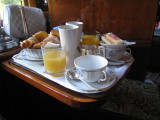The Orient Express continential breakfast
