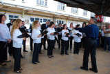 In Bucharest Romania we had a choir to greet us Sept 5, 2010