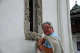 Dave at the chapel window