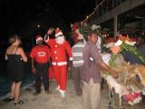 Santa greeting the guests