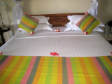 Nice touch with the flowers on the bed