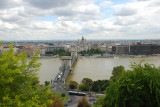 Looking at the Danube and Chain Bridge from Gellert Hill September 6, 2010