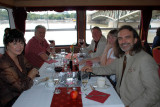 Dave having a river cruise lunch on the Danube Sept 6