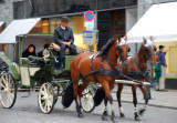 One of the many carriages in Vienna