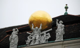 Beautiful statues adorn many of the buildings in Vienna
