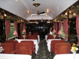 One of the 3 beautiful dining cars on the train Sept 8, 2010