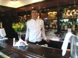 Barman working