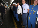 The Orient Express staff lined up to say goodbye Sept 8