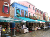 Shops on Burano Island