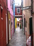 Streets of Burano Island
