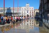 St Mark's Square floods at high tide September 9, 2010