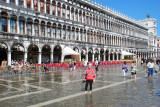 Ankle deep in water at St Mark's Square