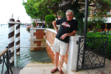 Dave waiting for the water taxi day 3 in Venice September 10, 2010