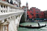 Gondola under the Rialto Bridge