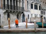 Rene admiring Venice