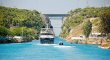 Sailing into the Corinth Canal - Greece