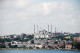 TURKEY:  Sailing into Istanbul and passing the Blue Mosque September 17, 2010