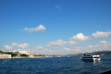 Sailing up the Bosphoros on the QV