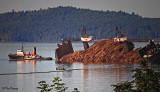 Dumping the Log Barge