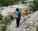 Filling up our water bottles in a stream in the Trenta Valley.jpg