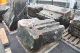 ... they are the remains of the Euston Arch demolished in the 1960's