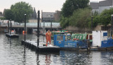 New moorings being constructed on the Three Mills Wall River