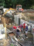 Casting  the recess concrete panels