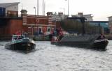 Leaving The KGV Lock into the Royal Docks