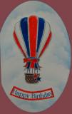 My Hot Air balloon card.