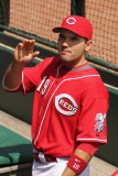 Joey Votto waves to the crowd