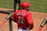Cincinnati Reds first base coach Billy Hatcher