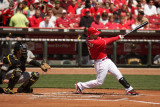 Reds outfielder Jerry Hairston Jr.  take a hack