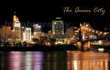 Queen City at Night Cincinnati, Ohio Skyline