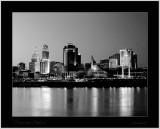 may 15Cincinnati Ohio skyline in black & white