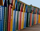 Bathing huts in Whitby