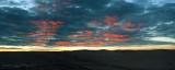 sunset, stitched
