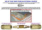 AIR UP YOUR BIRD FROM AN EXTERNAL SOURCE
