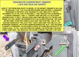 GENERATOR DRAWER LOCK AND SEALING GASKET