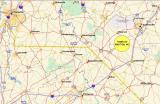 MAP SHOWING TOWN OF MAXTON NORTH CAROLINA LOCATION