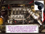 I ADDED A FLEXIBLE COLD AIR INTAKE DUCT AND INSULATED IT