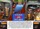 COLD AIR INTAKE REMOTE K&N  AIR FILTER, AIR BOX AND DUCTS