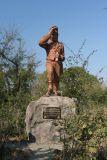 A statue of David Livingstone at Victoria Falls