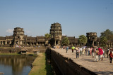 The outer approach to Angkor Wat over the temple moat