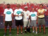 Robert Andrulis (43:21) & team (Scott Jacaway on the left caught the Badwater bug)