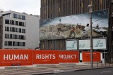 A moving display of material about human rights