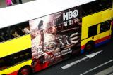 Bus with HBO advertising