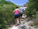 Climbing to the top of Great Bird Island