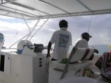 Driving the boat back